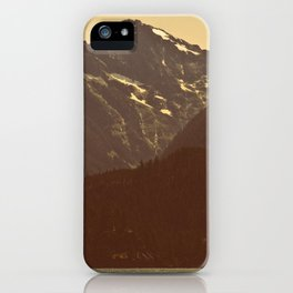 The warmth of Diablo Lake iPhone Case