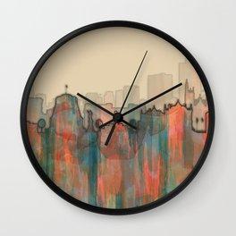 Wellington City Skyline, NZ - Navaho Wall Clock