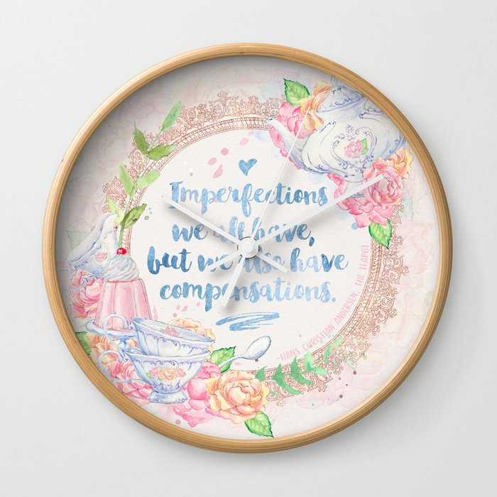 Andersen Teapot Wall Clock By Evieseo Society6