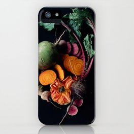 Moody Root Vegetables and Rose iPhone Case
