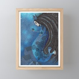 The Seal Woman Framed Mini Art Print