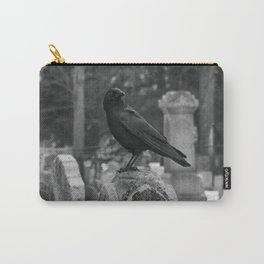 Crow In Shades Of Stone Carry-All Pouch