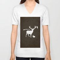 hunter V-neck T-shirts featuring Hunter by Julia Brnv