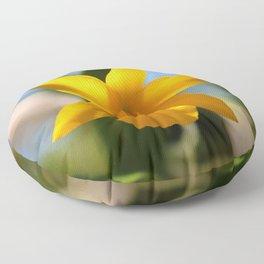 Yellow Orchid Floor Pillow