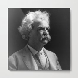 Mark Twain Portrait Metal Print