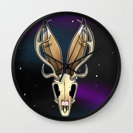 Space Jackalope Wall Clock
