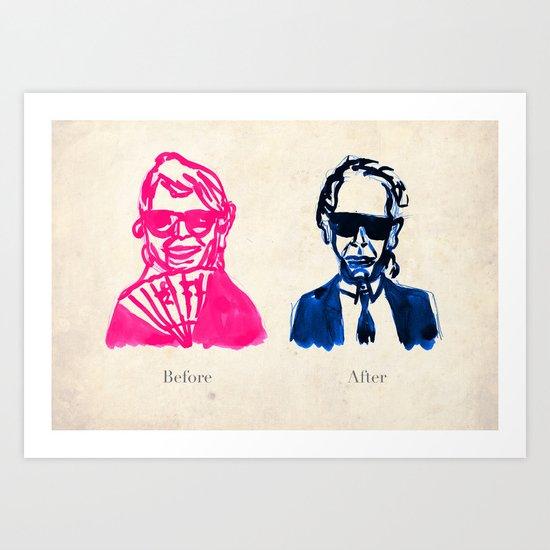 Old Karl Meet New Karl Art Print