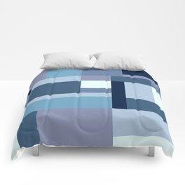 Abstract #387 Blue Harmony Comforters