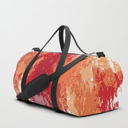 Red Orange Watercolor Duffle Bag