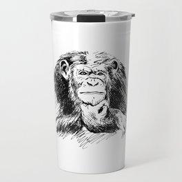 Drawing Chimpanzee Travel Mug