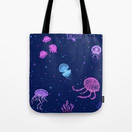 Jellyfish Bubble Sea Tote Bag