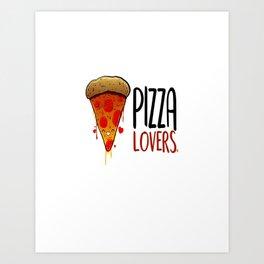 pizza lovers Art Print