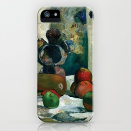 Still Life with Profile of Laval by Paul Gauguin iPhone Case