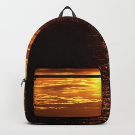 Golden Sunset on the Sea Backpack