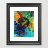 public viewing - fractal Framed Art Print