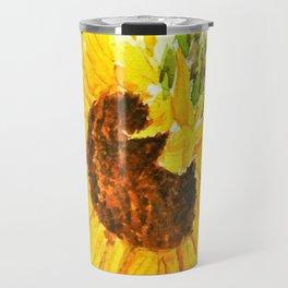 sunflower macro Travel Mug