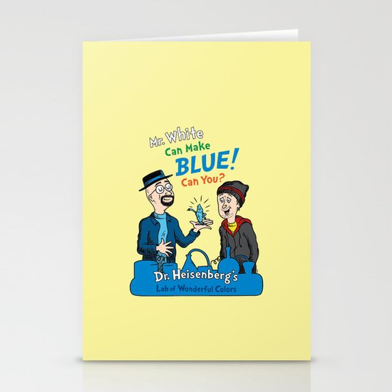 Mr. White Can Make Blue! Stationery Cards