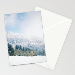 White Forest - French Alps Stationery Cards