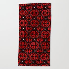 Red Gothic Beach Towel
