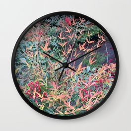 Spring fire Wall Clock