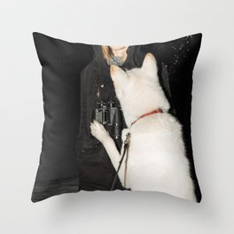 White Fang Throw Pillow