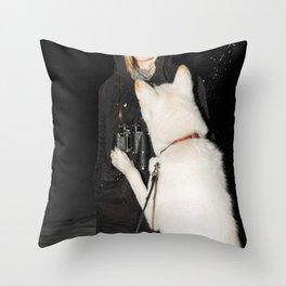 White Fang Throw Pillow
