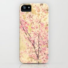 Oh to be a Bumblebee No.4. cherry blossom tree photograph Slim Case iPhone (5, 5s)