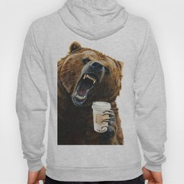""" Grizzly Mornings "" give that bear some coffee Hoody"