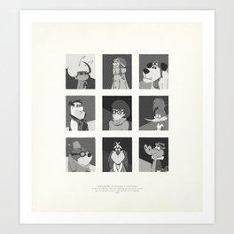 Super Mercredi Bros Heroes (5/8) Art Print