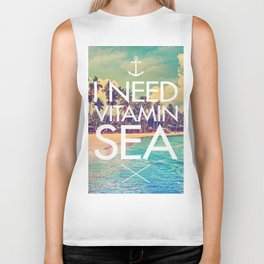 I Need Vitamin Sea Biker Tank