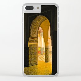 Marrakech Moment Clear iPhone Case