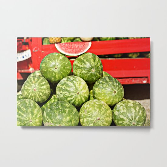 watermelon stand Metal Print