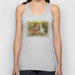 Tiger in free Wilderness Unisex Tank Top