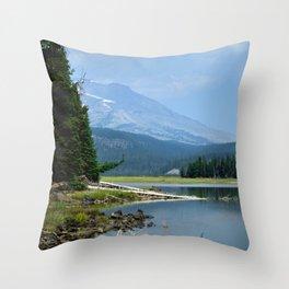 The Blue Cascade Lakes Throw Pillow