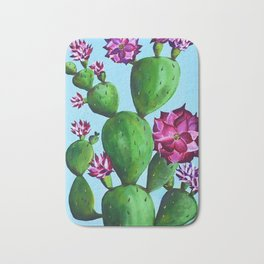 A Blooming Cactus in Austin Bath Mat