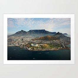 Cape Town aerial view II Art Print