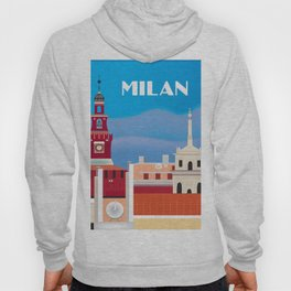 Milan, Italy - Skyline Illustration by Loose Petals Hoody