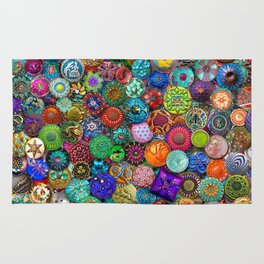 Glass Buttons Rug