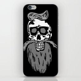 Hipster skull iPhone Skin