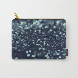 Sparkling Blue Summer Night Lady Glitter #2 #shiny #decor #art #society6 Carry-All Pouch