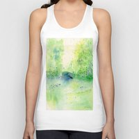 central park Tank Tops featuring Summertime in Central Park by SuisaiGenki