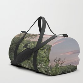 Fishing hole sunset Duffle Bag