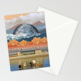 Immersed in reading Stationery Cards