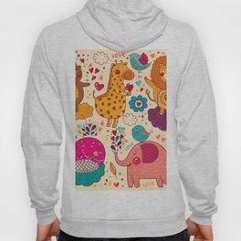 Animals in love Hoody