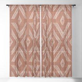 Birch in Rust Sheer Curtain