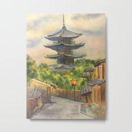 Japanese Pagoda Metal Print