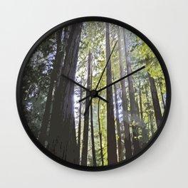 Sunlight through the trees Wall Clock