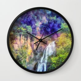 Mountain waterfall Wall Clock