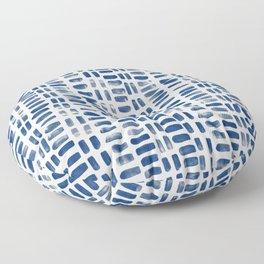 Abstract rectangles - indigo Floor Pillow