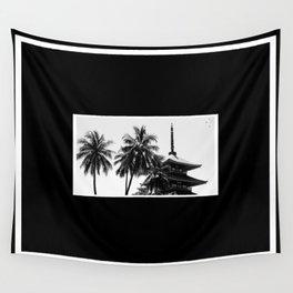 Pagoda Palms Wall Tapestry